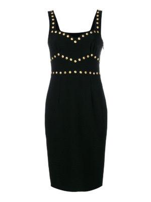 Moschino: knee length dresses - Studs detailed knee length dress