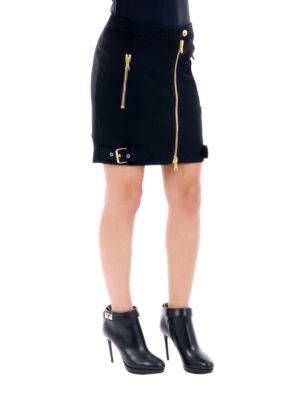 Moschino: mini skirts online - Zip detailed mini skirt