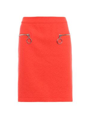 MOSCHINO: minigonne - Gonna corta misto lana con zip