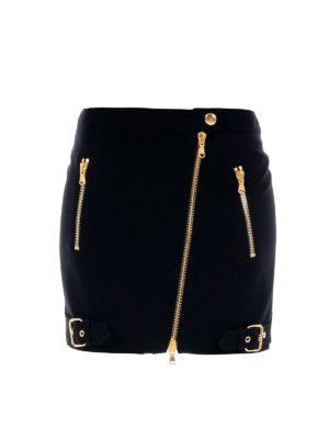Moschino: mini skirts - Zip detailed mini skirt