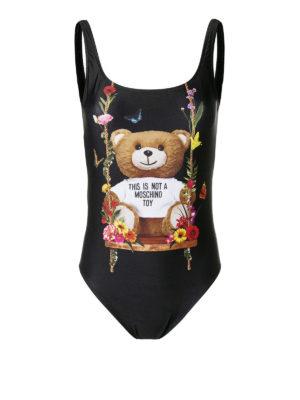 MOSCHINO: costumi interi - Costume intero nero con Bear