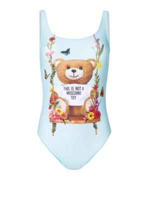 MOSCHINO: costumi interi - Costume intero azzurro con Bear