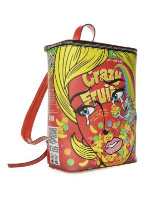 MOSCHINO: zaini online - Zaino rettangolare Crazy Fruit