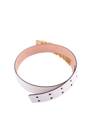 MOSCHINO: cinture online - Cintura con maxi logo dorato