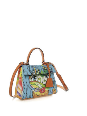 MOSCHINO: bauletti online - Borsa in similpelle con stampe