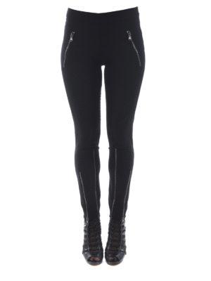 MOSCHINO: pantaloni casual online - Pantaloni in crepe con cerniere