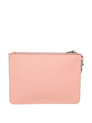 MOSCHINO: pochette online - Clutch in simil pelle rosa con stampa Teddy