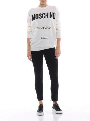 MOSCHINO: maglia collo rotondo online - Pull girocollo in lana Moschino Couture
