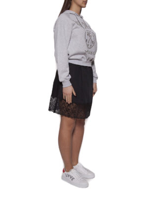 MOSCHINO: abiti al ginocchio online - Abito felpa con maxi logo