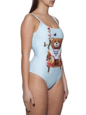 MOSCHINO: costumi interi online - Costume intero azzurro con Bear