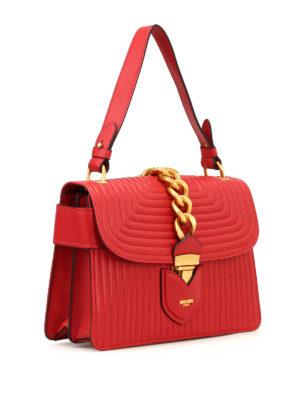 MOSCHINO: borse a spalla online - Borsa trapuntata con catena dorata