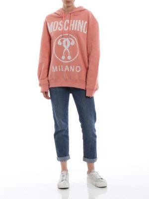 MOSCHINO: Felpe e maglie online - Felpa Moschino in cotone con cappuccio
