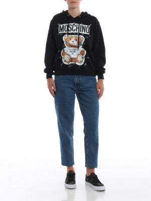 MOSCHINO: Felpe e maglie online - Felpa nera This is not a Moschino toy