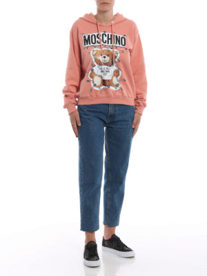 MOSCHINO: Felpe e maglie online - Felpa color pesca This is not a Moschino toy