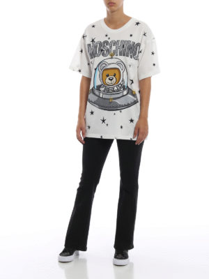 MOSCHINO: t-shirt online - T-shirt Moschino orsacchiotto astronauta