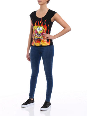 MOSCHINO: t-shirt online - T-shirt con stampa SpongeBob