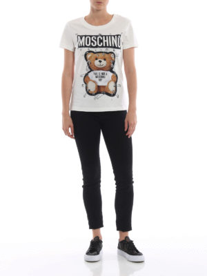 MOSCHINO: t-shirt online - T-shirt bianca This is not a Moschino Toy