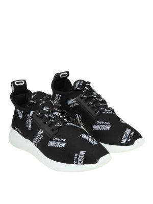 MOSCHINO: sneakers online - Slip-on in neoprene con logo all over