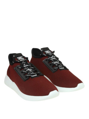 MOSCHINO: sneakers online - Slip-on signature in mesh bordeaux