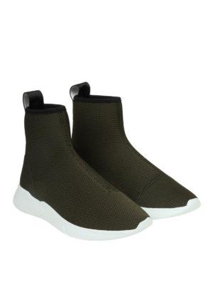 MOSCHINO: sneakers online - Sneaker a calza in mesh con banda logo