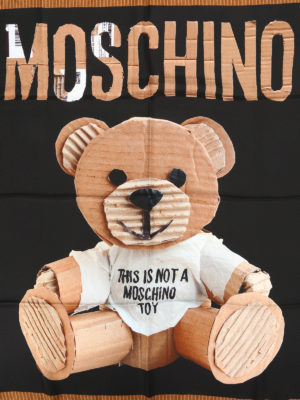 Moschino: scarves online - Printed silk scarf
