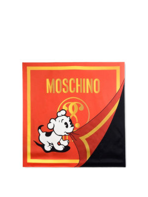 Moschino: scarves online - Pudge print scarf