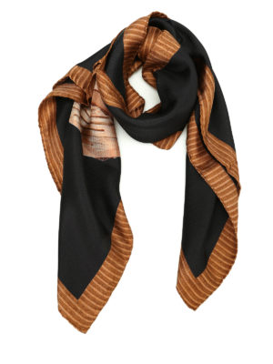 Moschino: scarves - Printed silk scarf
