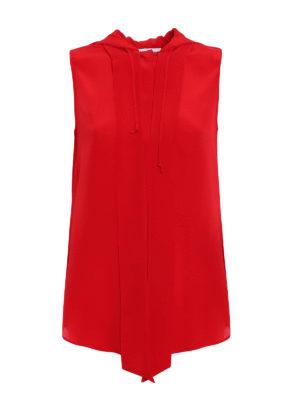 Moschino: shirts - Hooded sleeveless shirt