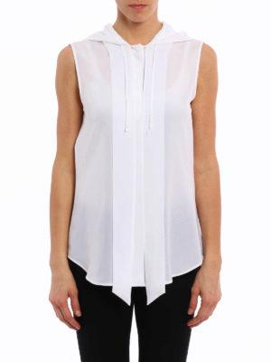 Moschino: shirts online - Hooded sleeveless shirt