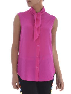 Moschino: shirts online - Sleeveless self-tie shirt