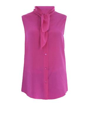 Moschino: shirts - Sleeveless self-tie shirt