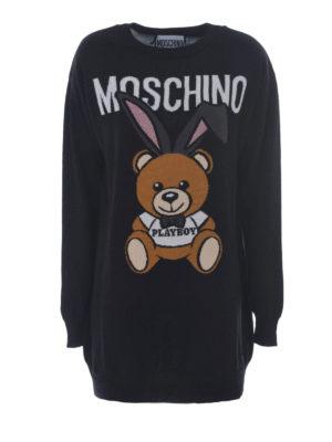 Moschino: short dresses - Bear Playboy© intarsia dress