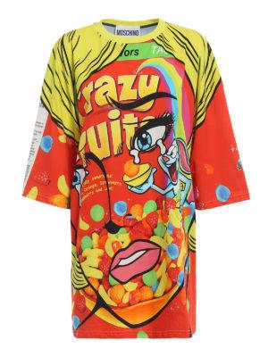 Moschino: short dresses - Crazy Fruit jersey over dress