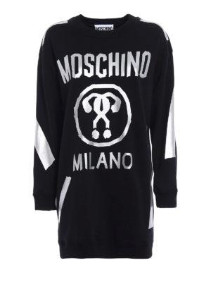 Moschino: short dresses - Hand-taped short sweat dress