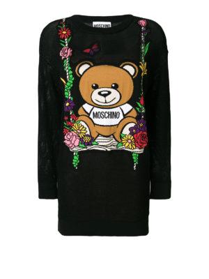 Moschino: short dresses - Logo lightweight knitted dress