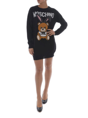 Moschino: short dresses online - Bear Playboy© intarsia dress