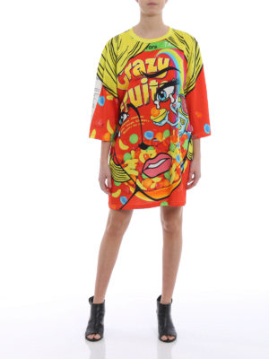 Moschino: short dresses online - Crazy Fruit jersey over dress