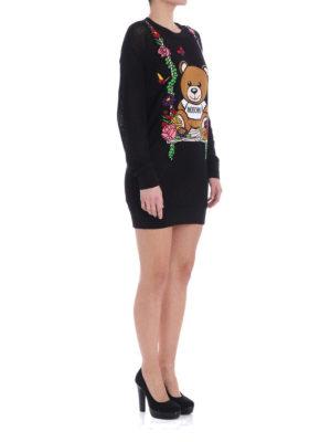 Moschino: short dresses online - Logo lightweight knitted dress