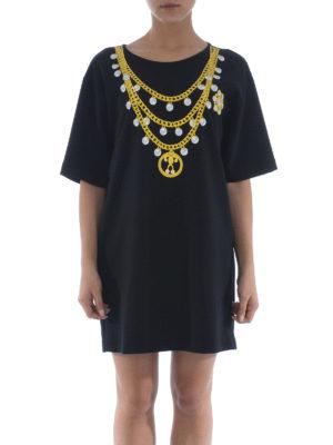 Moschino: short dresses online - Printed T-shirt jersey dress