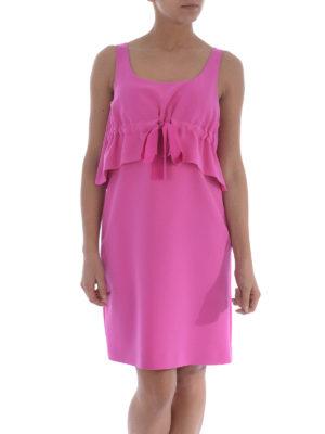 Moschino: short dresses online - Sleeveless flounce cady dress