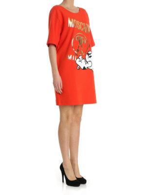 Moschino: short dresses online - T-shirt style jersey dress