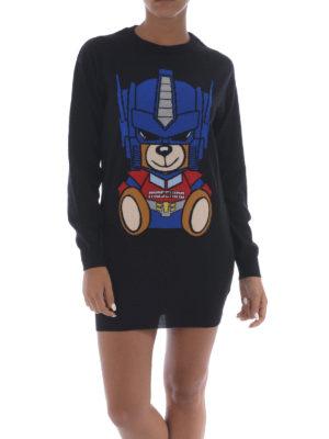 Moschino: short dresses online - Transformers Bear wool short dress