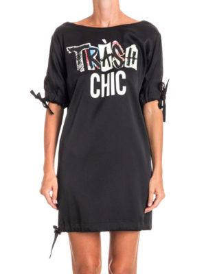 Moschino: short dresses online - Tràsh Chic print crepe dress
