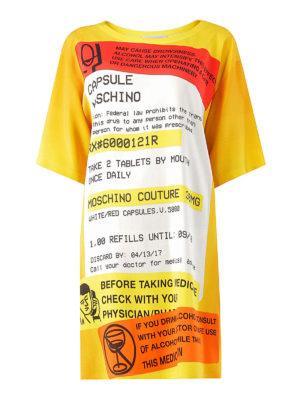 Moschino: short dresses - Oversize printed T-shirt dress