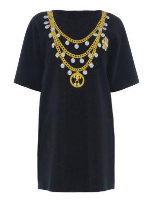 Moschino: short dresses - Printed T-shirt jersey dress