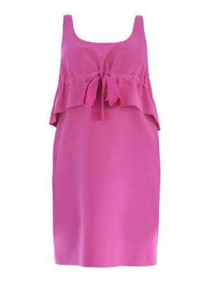Moschino: short dresses - Sleeveless flounce cady dress