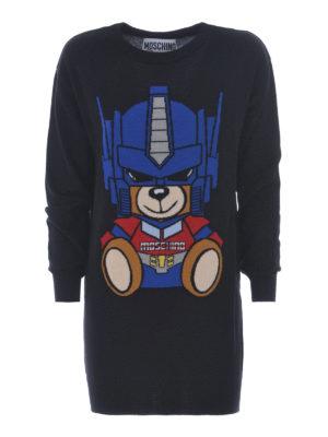 Moschino: short dresses - Transformers Bear wool short dress