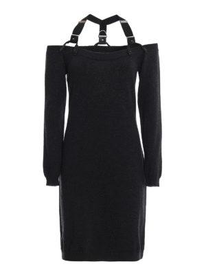 MOSCHINO: abiti corti - Abito in lana con cinturini