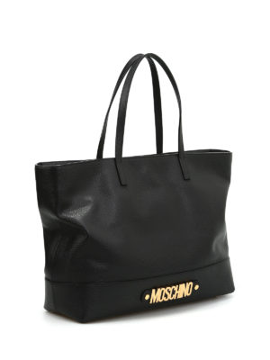 Moschino: shoulder bags online - Grainy leather shopper