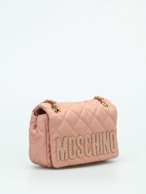 Moschino: shoulder bags online - Quilted nylon shoulder bag